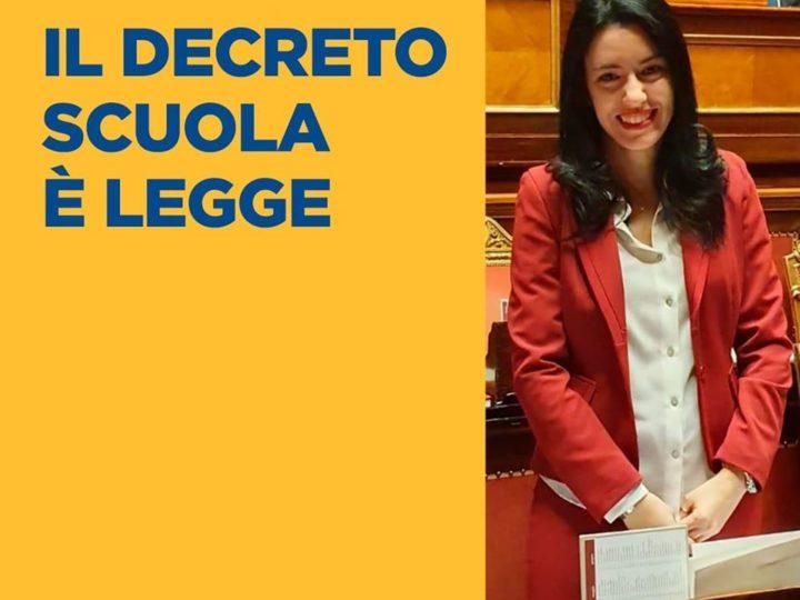 M5S Biella: Lucia Azzolina e Decreto Scuola