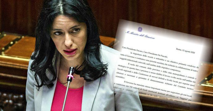 M5S-Scuola: la lettera della ministra Azzolina per sollecitare gli enti locali