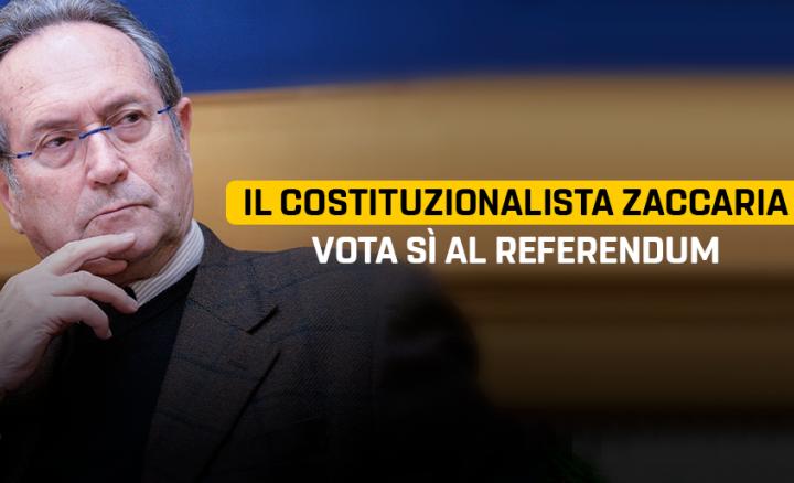 Referendum: perché votare SI, ce lo spiega il costituzionalista Zaccaria